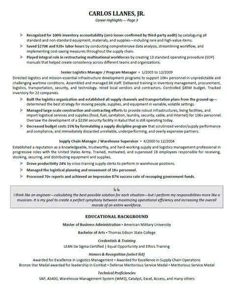 linear executive format resume template executive resume sles professional resume sles