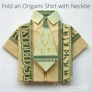 Cute Christmas Ornaments To Make - money origami shirt and tie folding instructions