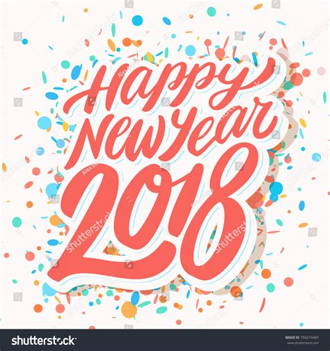 happy new year 2018 greeting card stock vector happy new year 2018 greeting card stock vector 759274483