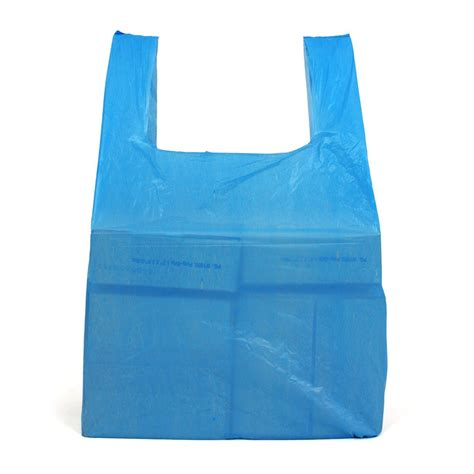 Carrier Bags by Medium Blue Recycled Vest Carrier Bags 100 Per Pack
