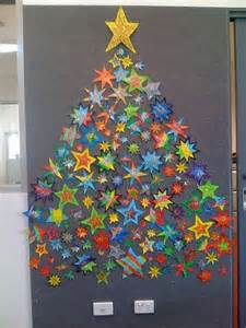 how to make homemade christmas trees with star on wall how