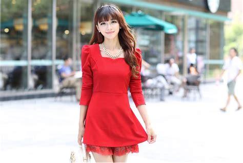 Baju Pesta Baju Natal Blouse Pesta Blouse 61 mini dress merah natal terbaru model terbaru jual