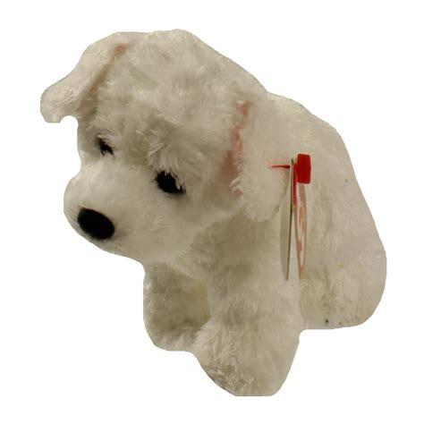 beanie baby puppy ty beanie babies cargo the white 6 inch ebay