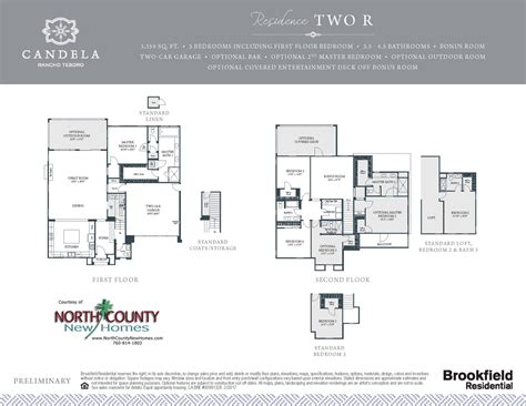 westerly at rancho tesoro new home floor plans north candela at rancho tesoro floor plans north county new homes