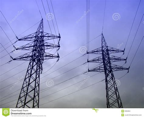 high tension electricity wires stock images image 638464