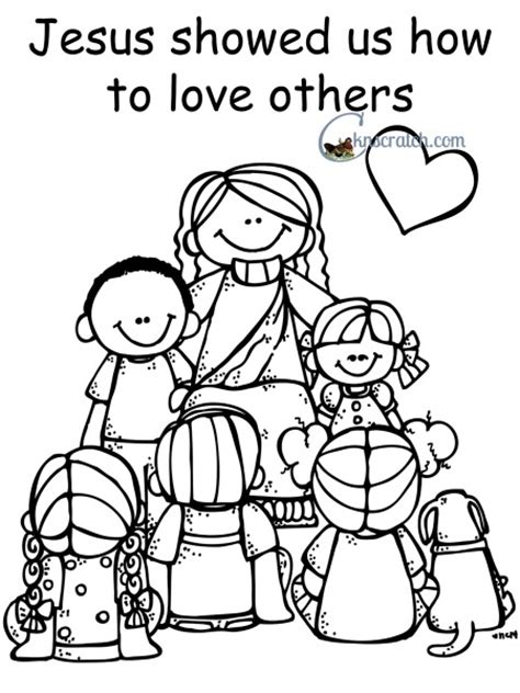 showing love like jesus coloring page behold your little ones lesson 5 jesus christ showed us