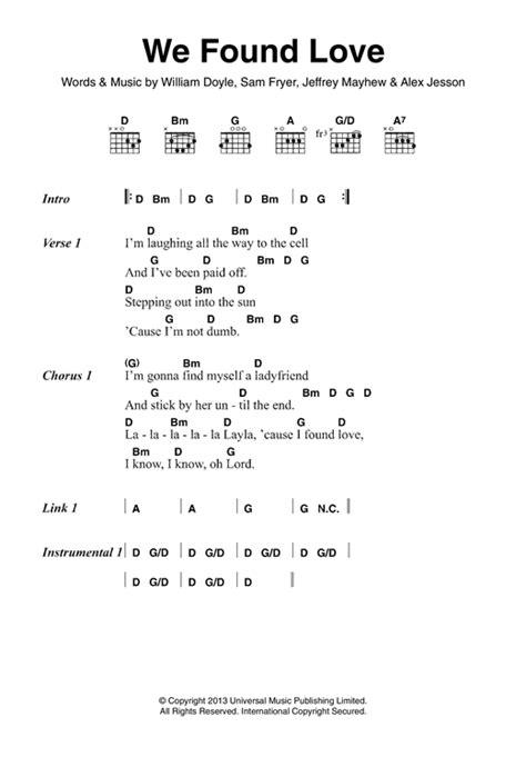 Ed Sheeran We Found Love Chords | we found love partition par palma violets paroles et
