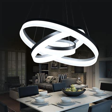 hanging dining room l led pendant lights modern kitchen aliexpress com buy hanging modern led ring circles