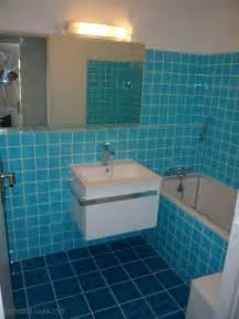 Salle De Bain Bleu Et Gris