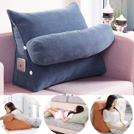 adjustable  wedge cushion pillow sofa bed office chair rest waist neck support  gift