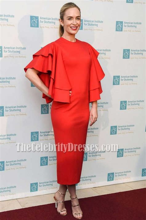 2017 06 26 sarah westwood blue dress womens dresses emily blunt red ruffle sleeve scoop neckline party evening