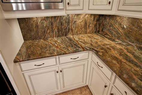 Rainforest Brown Granite Countertop by Designing Into Your Home