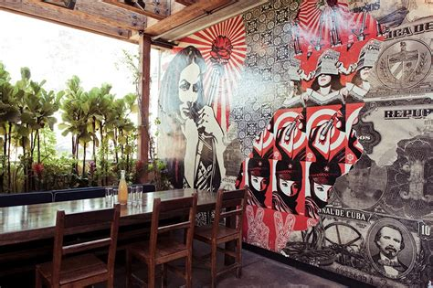restaurant wall murals rande gerber designing atmosphere and tequila