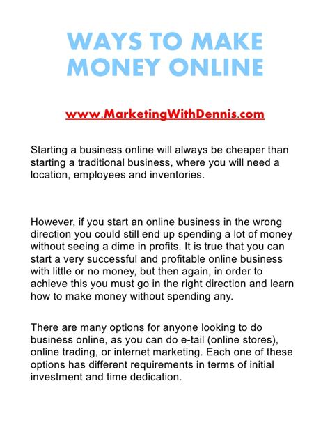 Ways To Make Money Online For Free And Fast - free ways to make money online