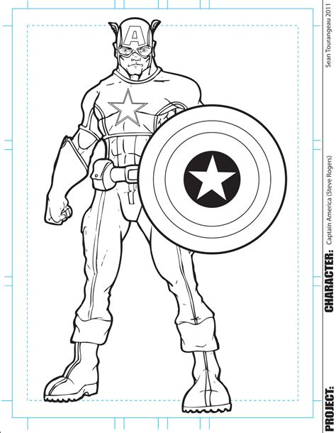 free coloring pages of lego captain america