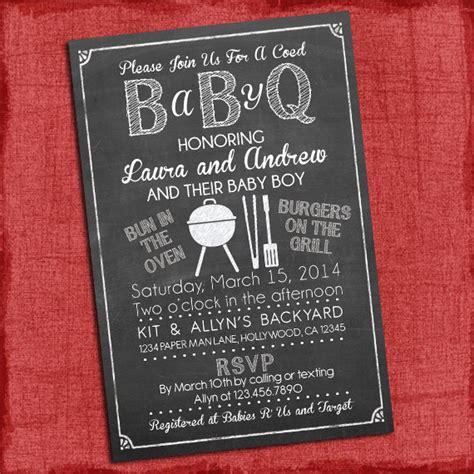 Baby Q Shower Invitations by Baby Q Shower Invitation Bbq Baby Shower Babyq Barbecue