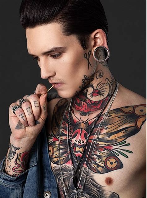 butterfly tattoo guy chest tattoos and designs page 563