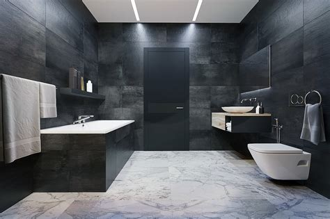 arrangement spacious modern bathroom designs