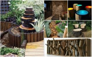 Diy Backyard Decorating Ideas Fab Diy Log Home Garden Decor Ideas Www Fabartdiy