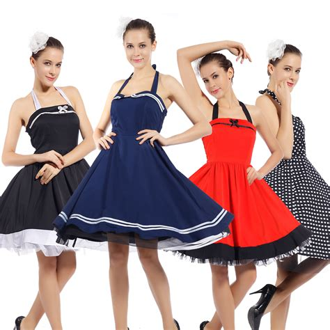 retro cocktail party women s 1950s 60s vintage rockabilly swing dresses retro