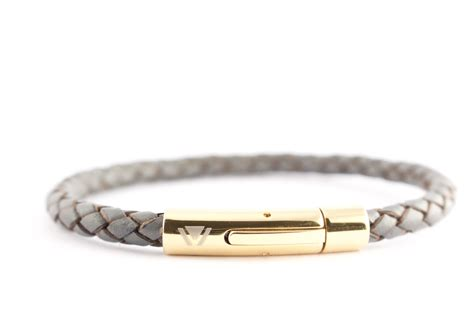 braided bracelets with grey 5mm braided leather bracelet with push button clasp