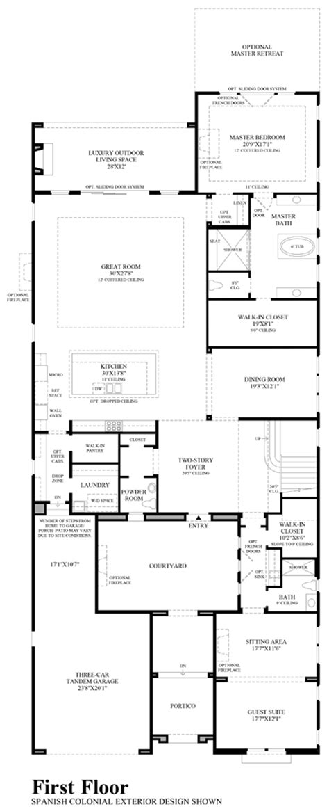 sage floor plan canyon oaks the sage home design