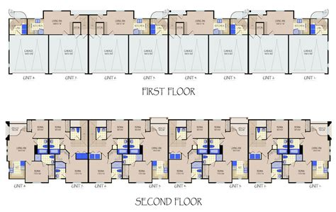 floor plans for units 8 unit apartment building floor plans house plans