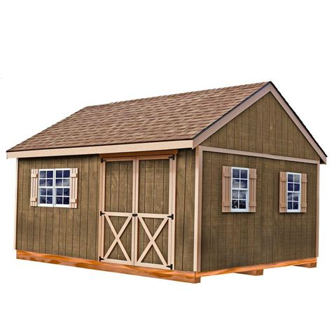 10 X 16 Wood Shed Kit With Floor - best barns new castle 16 ft x 12 ft wood storage shed