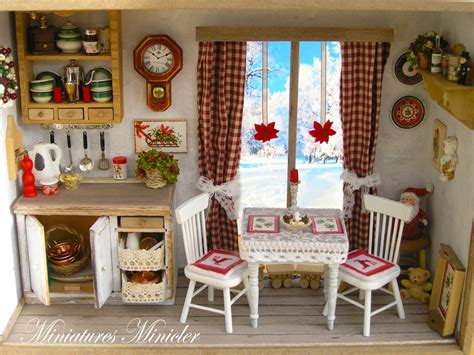 miniatures dollhouse miniature dollhouse kitchen roombox with the