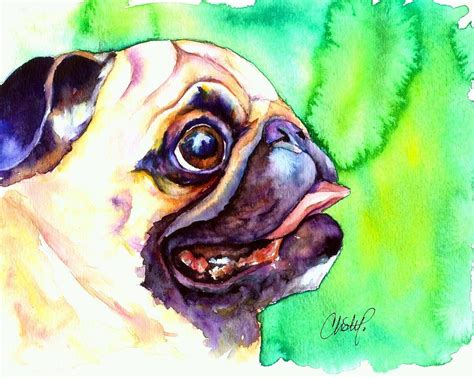 pug paintings for sale pug profile by freeman