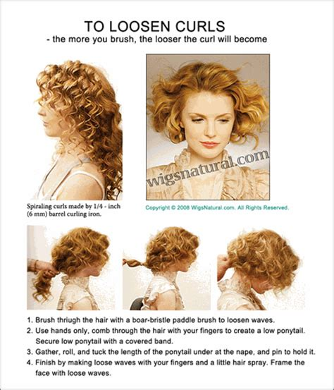 how to relax a perm at home to loosen curls the more you brush the looser the curl