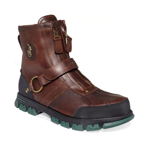 ralph boots for ralph conquest iii highc boots in brown for lyst