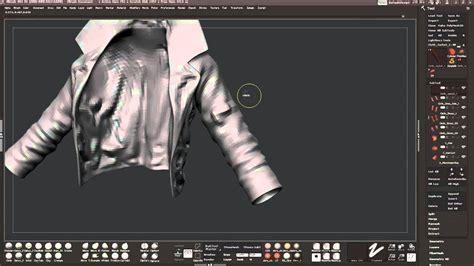 zbrush jacket tutorial leather jacket sculpting part 1 youtube