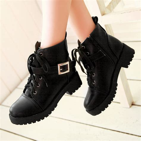 Heels Boot Korea Gds 284 korean fashion lace up buckle boots 183 kawaii harajuku fashion 183 store powered by