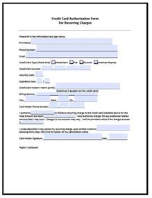Template Credit Credit Card Authorization Form Template Beepmunk