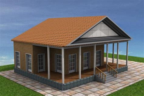 Cottage Vacation Home Summer House Design Max 3ds Max House Plans 3d Max