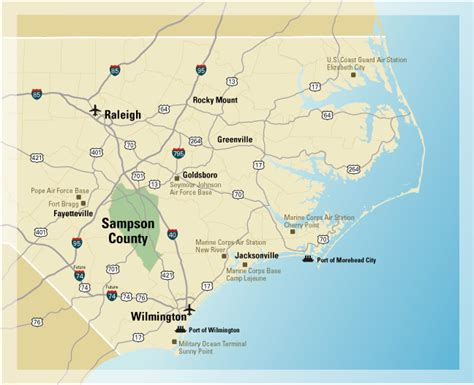map of eastern carolina eastern nc maps cities my