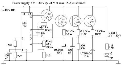 alimentatore 15v zasilacz na lm723 szukam schematu zasilacza na lm723 0