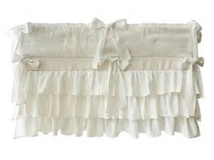ruffle crib skirt custom color linen crib skirt by
