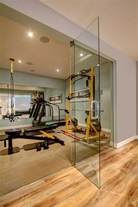 Sliding Glass Walls by Basement Gym Ideas Home Gym Contemporary With Glass Wall