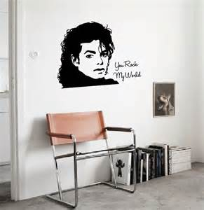 wall sticker michael jackson walldesign56 wall decals michael jackson leaning wall art decal pop singers