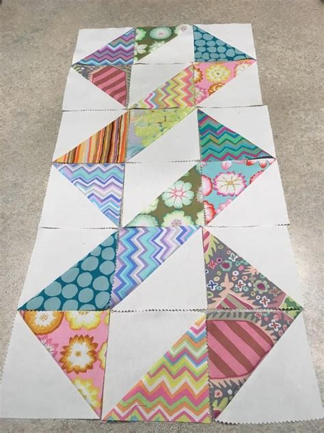25 best ideas about half square triangles on