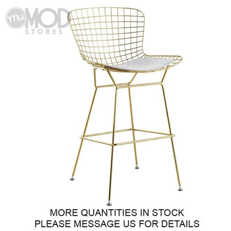 Gold Wire Bar Stools by 17 Best Bertoia Side Chair Harry Bertoia Images On