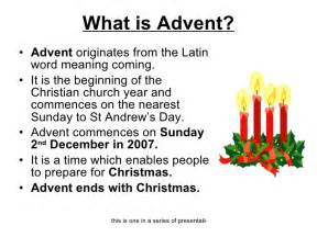 What is advent ul li advent originates from the latin
