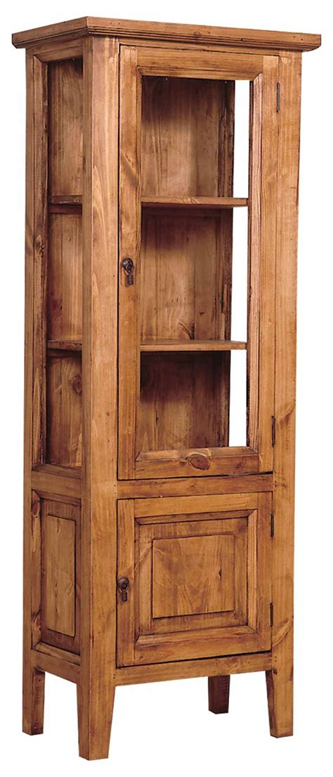 rustic pine curio cabinet dining furniture shabby chic