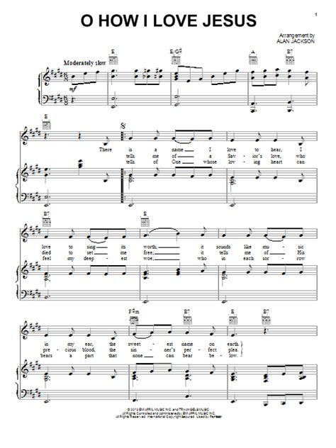 piano tutorial jesus is love oh how i love jesus o how i love jesus sheet music direct