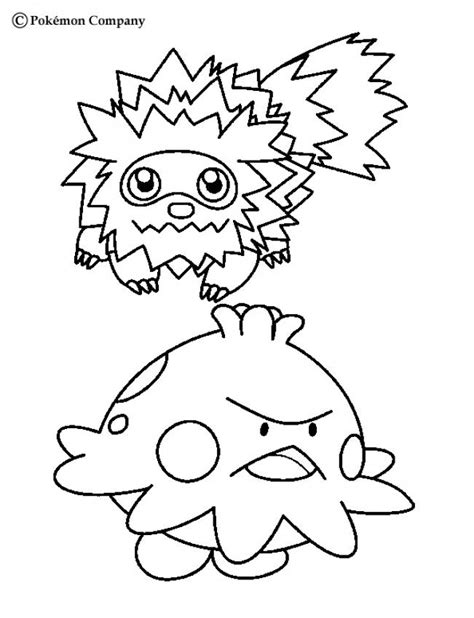 zigzagoon coloring page zigzagoon and shroomish coloring pages hellokids com