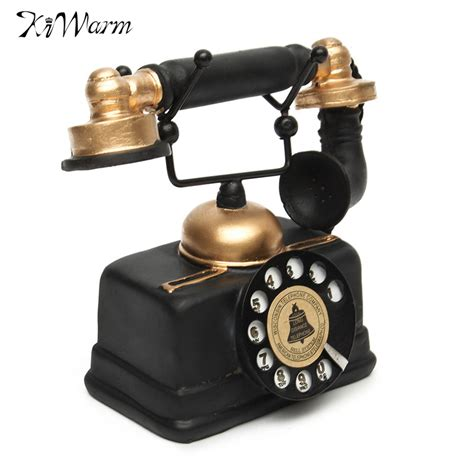kiwarm new vintage rotary telephone statue antique shabby