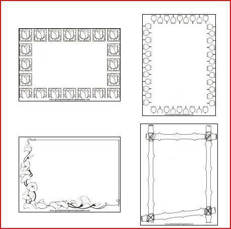 cornici da disegnare sul quaderno cornicette per bambini da colorare e stare