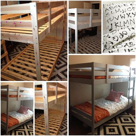 Ikea Bunk Bed Light Ikea Bunk Beds Painted Light Gray Home Ikea Hacks Colors And We